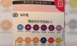 ญี่ปุ่นทึ่่ง..ต้องขอแชร์ แผนผังแบ่ง 18 เพศของคนไทย
