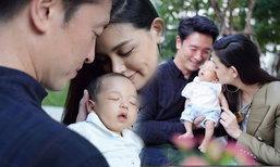 """ชาย วิกกี้ ถ่ายภาพครอบครัวอบอุ่น """"น้องตฤณ"""" ครบ 1 เดือน"""