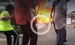 เผยคลิประทึก  นาทีระเบิดลูกที่ 2 ด้านหน้าบิ๊กซีปัตตานี ประชาชนวิ่งหนีตาย