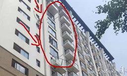 แตกตื่น ระเบียงตึกที่พักในจีนพังถล่ม หายวับ 5 ชั้นรวด