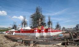 การก่อสร้างพระเมรุมาศคืบหน้าแล้วร้อยละ 47.9