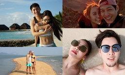 รวมภาพหวานฮันนีมูน ซีนโรแมนติกของคู่รัก