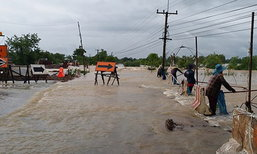 ทางหลวงชนบทสรุปน้ำท่วมถนน 113 สายทาง