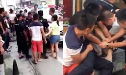 ชุลมุน! ชายจีนกับญาติรุมตีตำรวจ หลังถูกตำหนิจอดรถในที่ห้ามจอด