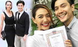 นุ่น ท็อป โชว์หวานจดทะเบียนสมรส ในวันครบรอบแต่งงาน 2 ปี