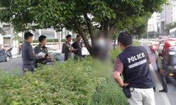 ชายผูกคอดับบนเกาะกลางถนนศรีนครินทร์ ตำรวจรุดสอบ