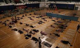 ฟรี! มหาวิทยาลัยในจีนจัดที่นอนในโรงยิมให้ผู้ปกครองส่งลูกเข้าเรียน