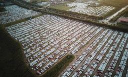 จอดชิดแน่น! ลานจอดรถใหญ่ที่สุดในเมืองเสิ่นหยาง