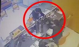 เผยภาพ CCTV โจรปล้นแบงค์ธนชาต ตำรวจเร่งล่า