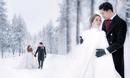 โรแมนซ์กลางหิมะ ภาพพรีเวดดิ้ง นิว-เป๊ก สวยอลังการ