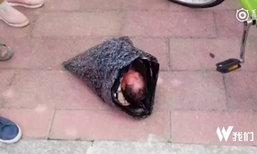 ชีวิตใหม่...หนูน้อยถูกแม่จับยัดถุง ส่งพัสดุไปสถานสงเคราะห์