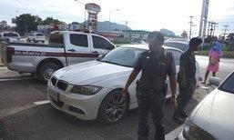 หนุ่มเซียนพระควงพริตตี้ดังซิ่งบีเอ็มหรู แหกด่านชนรถตำรวจ