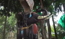 ทุบองค์เทพช้างสามเศียร เจอพระหลายพันองค์ ชาวบ้านแห่แย่งเก็บบูชา