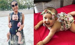 """เด็บบี้ บาซู อัพเดทความน่ารักลูกสาว""""น้องลีอา"""" วัย 6 เดือน"""