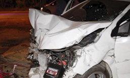 สาวขับเก๋งชนซาเล้งสองตายาย ดับ 2 ศพ