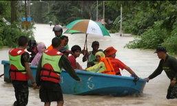 น้ำท่วมสงขลาหนักสุดในรอบปี 10 อำเภอประกาศเขตภัยพิบัติแล้ว