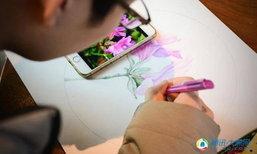 จิตรกรจีนใช้ปากกาลูกลื่น เนรมิตภาพวาดประณีตดุจใช้พู่กัน