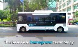พัฒนาล้ำไปอีกขั้น เผยระบบรถบัสไร้คนขับเมืองเซินเจิ้น
