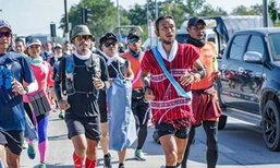 """""""ตูน"""" ออกวิ่งวันที่ 48 จากแม่พริก ลุยต่อ 65 กม.ไปเถิน ลำปาง"""