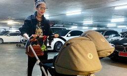 ชมพู่ อารยา พาลูกแฝดออกเที่ยวเล่น ซูมรถเข็นเด็กอลังการมาก
