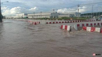 300663ฝนถล่มระยองท่วมหนัก