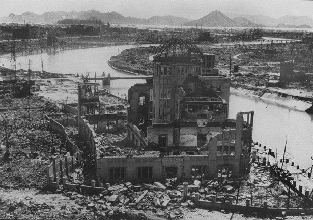 เมืองนางาซากิหลังถูกโจมตีโดยกองทัพสหรัฐฯ ในสงครามโลกครั้งที่สอง