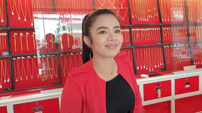 นางสาวอราดา พนักงานประจำห้างเพชรทองอุมารินทร์ ผู้อยู่ในเหตุการณ์