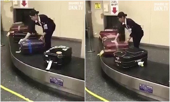 ชาวเน็ตปลื้ม สนามบินญี่ปุ่นใส่ใจกระเป๋าผู้โดยสาร เช็ดถูให้อย่างดี