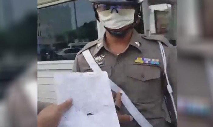 ผกก.สน.ดินแดง แจงกรณีคลิปตำรวจจราจร ยึดใบขับขี่