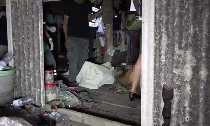 สาวใหญ่ถูกฆ่ารัดคอ เปลือยกายในกระท่อม ตำรวจเชื่อ สามี มีเอี่ยว
