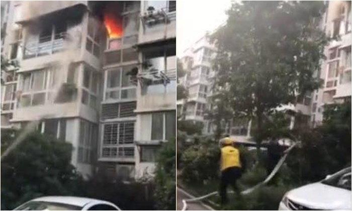 หนุ่มส่งอาหารจีน บังเอิญเจอเหตุไฟไหม้ พุ่งเข้าช่วยรอดตายทั้งครอบครัว