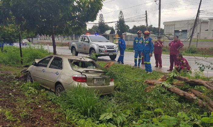 ชาวบ้านรู้สึกผิด รถชนต้นไม้ตาย 1 ศพ พบในสภาพดิ้นรนช่วยเหลือตัวเอง