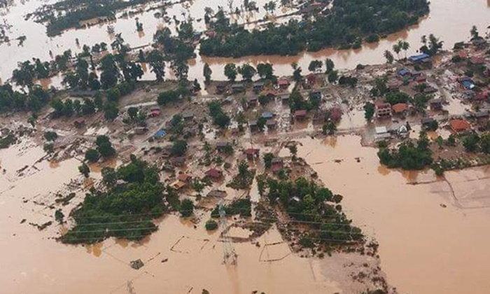 น้ำท่วมลาวยอดผู้สูญหายพุ่งกว่า 1,000 คน จนท.ระดมกำลังค้นหา 24 ชม.