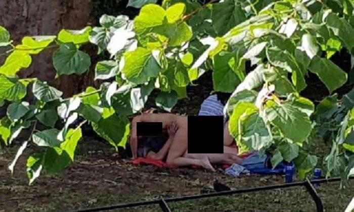 """4 หนุ่มสาวเวลส์ """"เซ็กซ์หมู่"""" กลางสวนสาธารณะ ไม่สนคนมอง"""