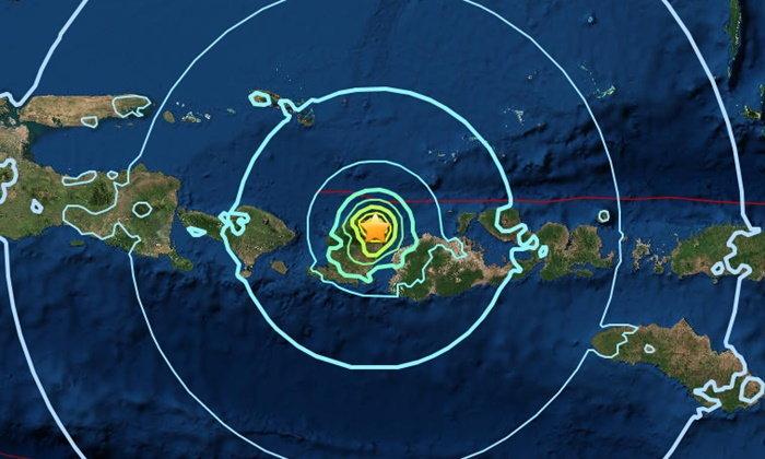 แผ่นดินไหว 2 ระลอก ขนาด 6.3 เขย่าซ้ำเกาะลอมบอก อินโดนีเซีย