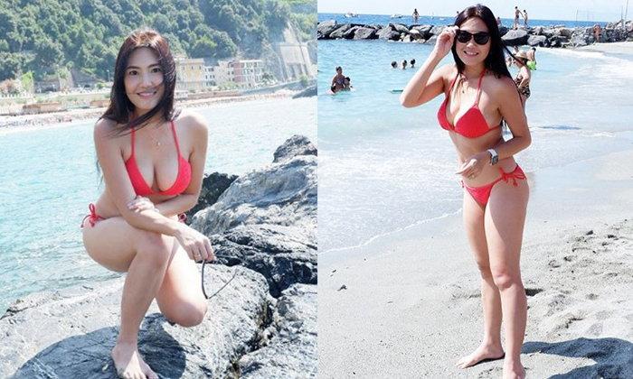 """""""บอลลูน"""" สมชื่อ แบกหุ่นเซ็กซี่ขยี้หัวใจ เล่นน้ำทะเลไกลถึงอิตาลี"""