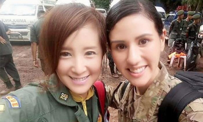 """""""ต่าย สายธาร"""" ขอบคุณทหารหญิงสหรัฐฯ แทนคนไทย หากมีโอกาสจะพาไปเที่ยวสมุย"""