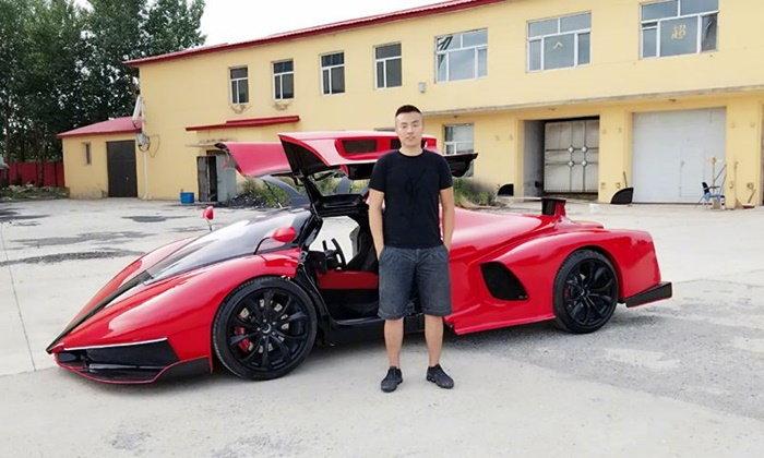 """คุ้มแล้วที่เรียนมา...หนุ่มจีนใช้เวลา 2 ปี ออกแบบ-ผลิต """"รถในฝัน"""" ด้วยตัวเอง"""