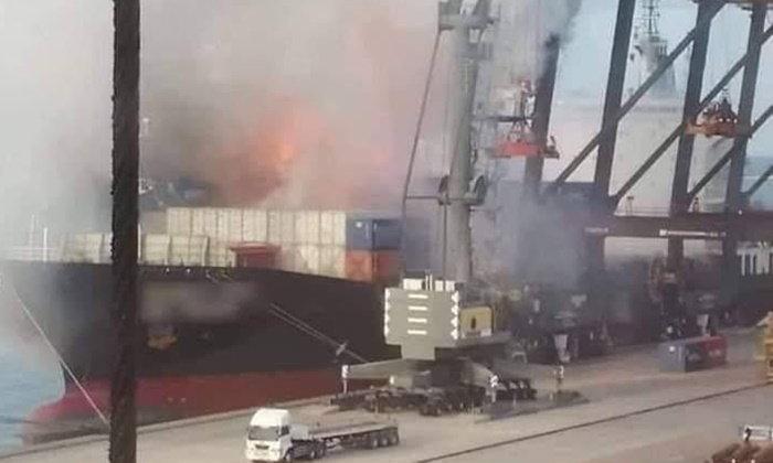 การท่าเรือฯ แจงไม่พบรายการสินค้าสารอันตราย ในเหตุเรือไฟไหม้