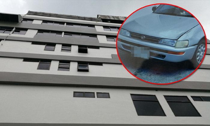 แม่บ้านพลัดตกตึกโรงพยาบาลจากชั้น 4 ร่างร่วงกระแทกหน้ารถเก๋งเสียชีวิต