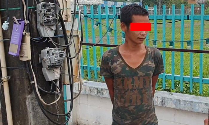 รวบหนุ่มพม่าขาใหญ่ ประกาศศักดาใช้ชะแลงทุบหม้อแปลงไฟฟ้าหน้าศาลสมเด็จพระนเรศวรมหาราช