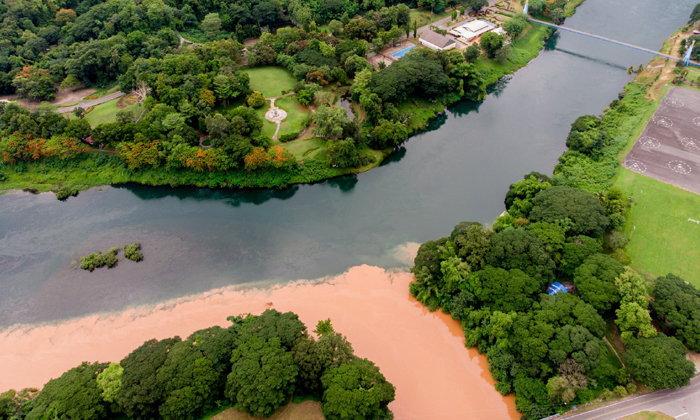 สวยงามหาชมยาก ปรากฏการณ์แม่น้ำ 2 สี