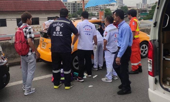 22 มาอีกแล้ว! สาวท้องแก่นั่งแท็กซี่ไปโรงพยาบาล แต่ไม่ทันคลอดลูกบนทางด่วน