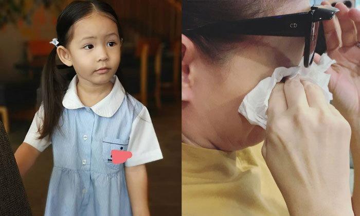 """""""น้องริชา"""" ไปโรงเรียนวันแรก """"ภูริ"""" เผยลูกไม่ร้องแต่แม่ร้องไห้หนักมาก"""