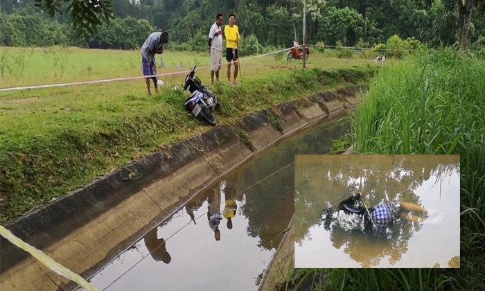 ญาติร่ำไห้ใจจะขาด-หนุ่ม 15 ซิ่งจักรยานยนต์ฝ่าความมืด เสียหลักแหกโค้งพุ่งลงน้ำเสียชีวิต