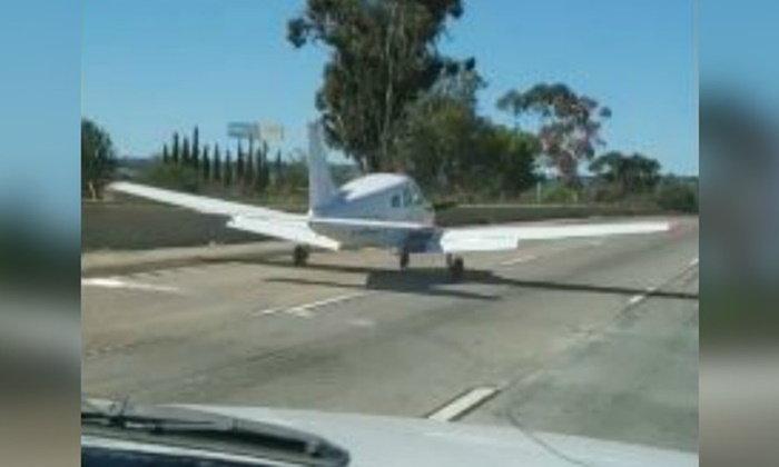 """""""แลนดิ้ง...ปลอดภัยดี"""" เครื่องบินลงจอดฉุกเฉิน สุดแนบเนียนกลางถนน"""