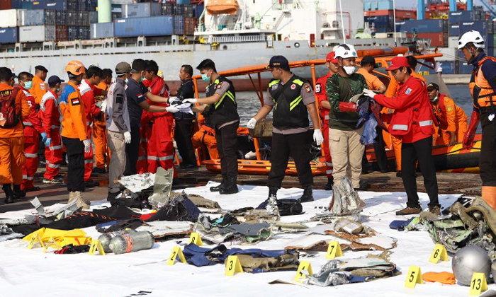 อินโดนีเซียแถลง หมดหวังพบผู้รอดชีวิต 189 คน เครื่องบินไลอ้อนแอร์ตก