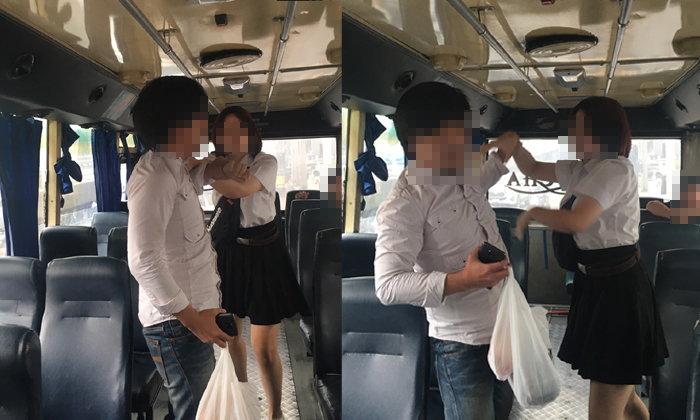 นักศึกษาสาวเตือนภัย ถูกชายโรคจิตบีบหน้าอกบนรถเมล์ ข่วนสู้จนเลือดออกยังชอบ