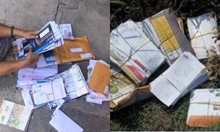 สะเทือนใจผู้รับ! บุรุษไปรษณีย์นำจดหมายทิ้งเกลื่อนกลางป่า