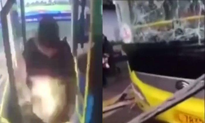 ระทึก ชายจีนจุดระเบิดโยนใส่รถเมล์ บาดเจ็บ 17 คน